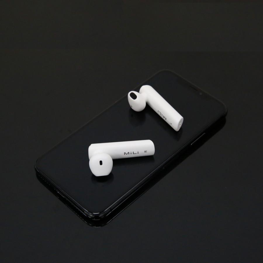 Tai nghe Bluetooth MiLi PhoneMate - HE-G33 pro màu trắng - Hàng Chính Hãng
