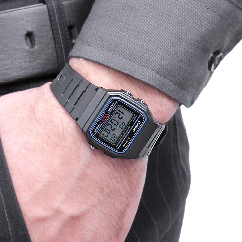 Đồng hồ unisex dây nhựa Casio F-91W-1DG