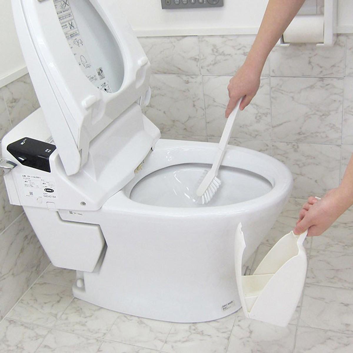 Bàn Chải Cọ Bồn Cầu Toilet Siêu Sạch Nhật Bản (Tặng Trà Matcha Macca)