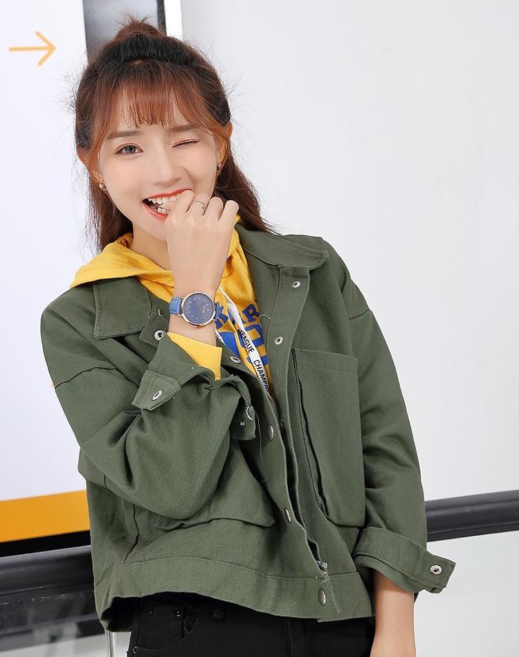 Đồng Hồ Nữ Hàn Quốc Dây Da Julius JA-1016C (39mm) - Xanh