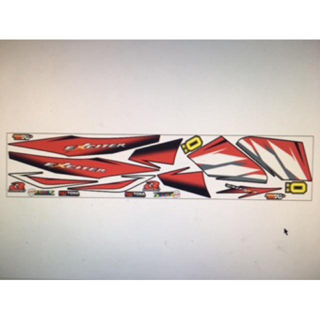 Tem dán dành cho xe máy Exciter 2006 đỏ đen sport