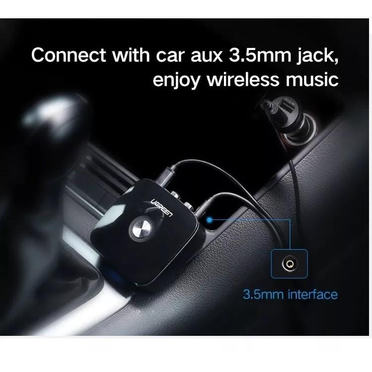 Bộ Thu Bluetooth 4.2 cho loa, amly hỗ trợ cổng 3.5mm + RCA Chính Hãng UGREEN 40759
