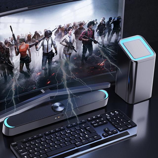Loa Thanh Nghe Nhạc Siêu Trầm Kết Nối Bluetooth Gaming Soundbar D238 Ke m Cục BASS, Cổng Kết Nối USB, Jack 3.5 Dùng Cho Máy Vi Tính PC, Laptop, Tivi