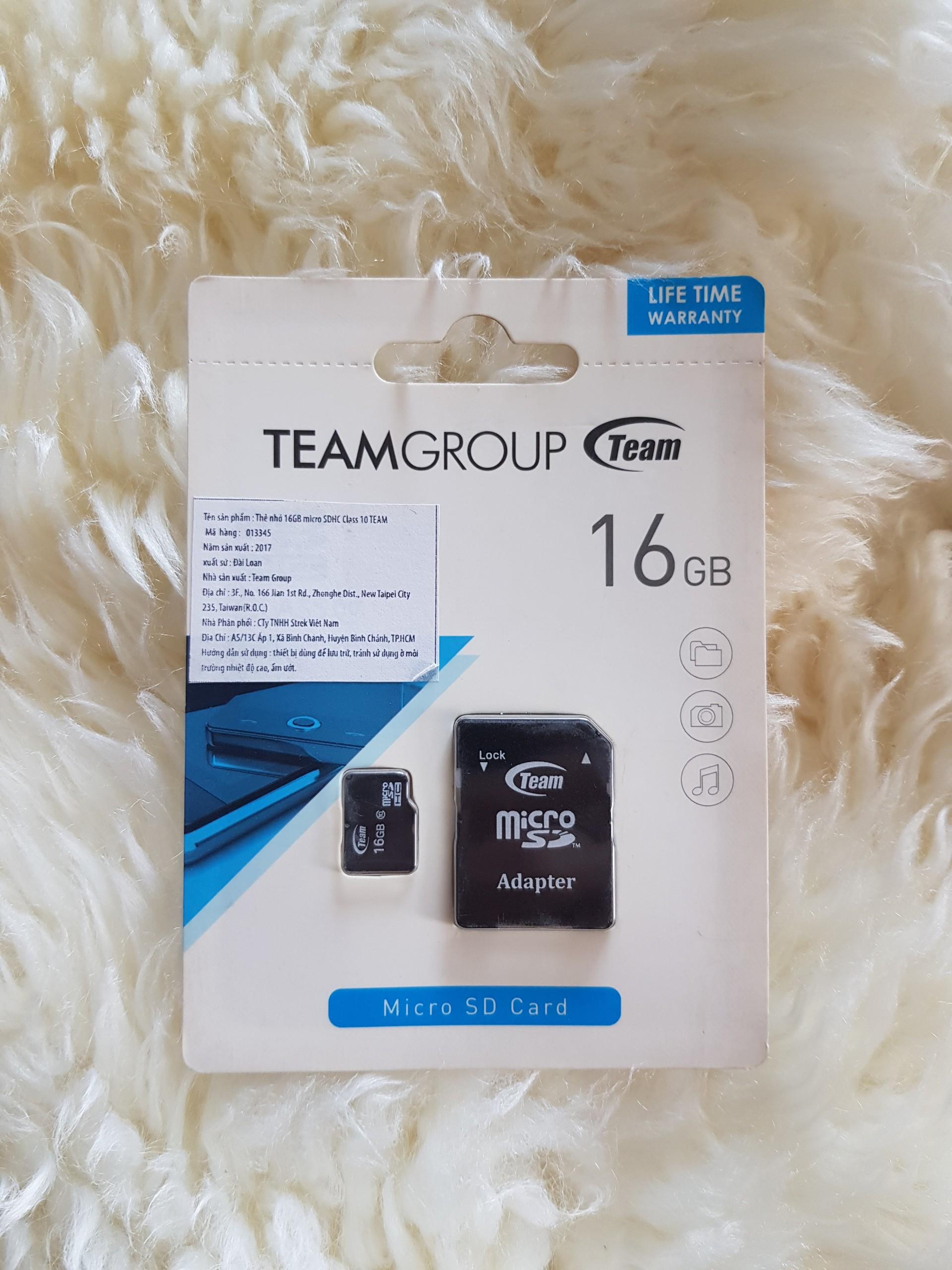 Thẻ Nhớ 16GB Micro SDHC Class 10 TEAM GROUP