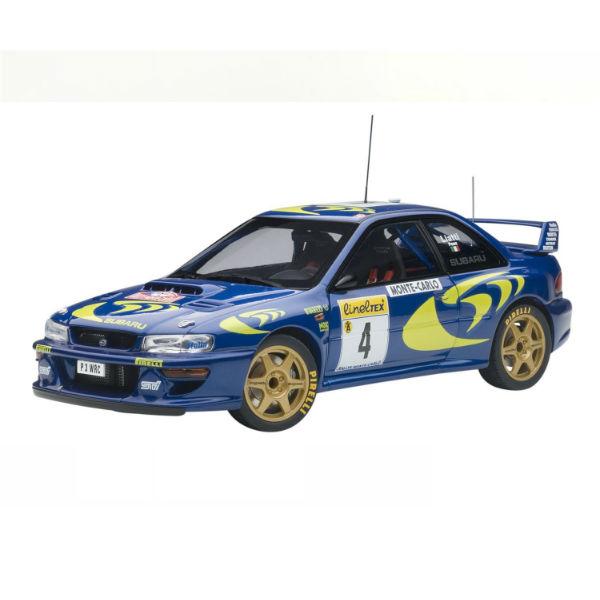 Xe Mô Hình Subaru Impreza Wrc 1997 #4 Piero Liatti/Fabriziapons (Rally Of Monte Carlo) 1 1:18 Autoart - 89791 (Xanh)