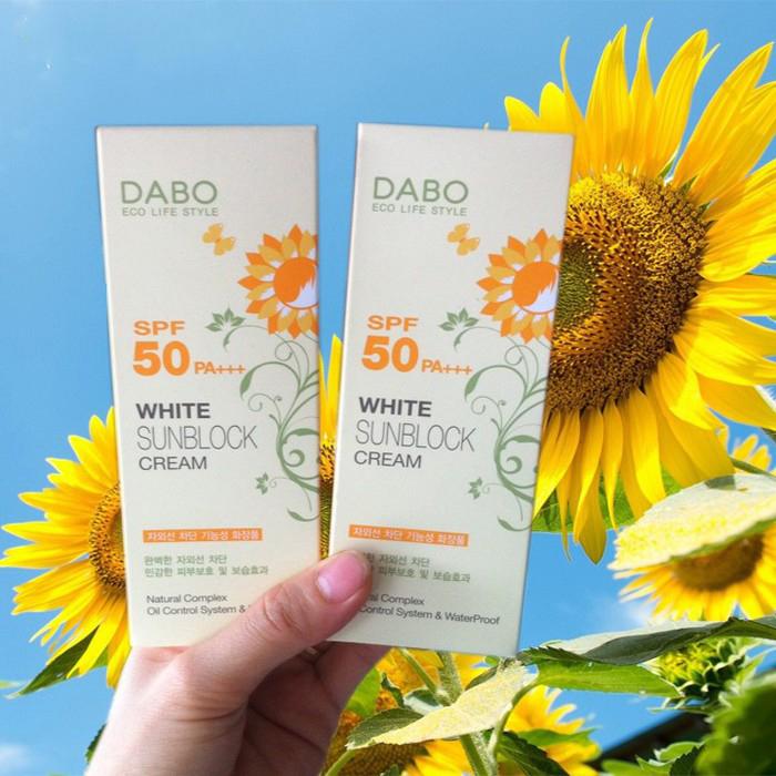 Kem chống nắng trắng da Dabo White Sunblock Cream Cao cấp Hàn Quốc 70ml + Móc khoá
