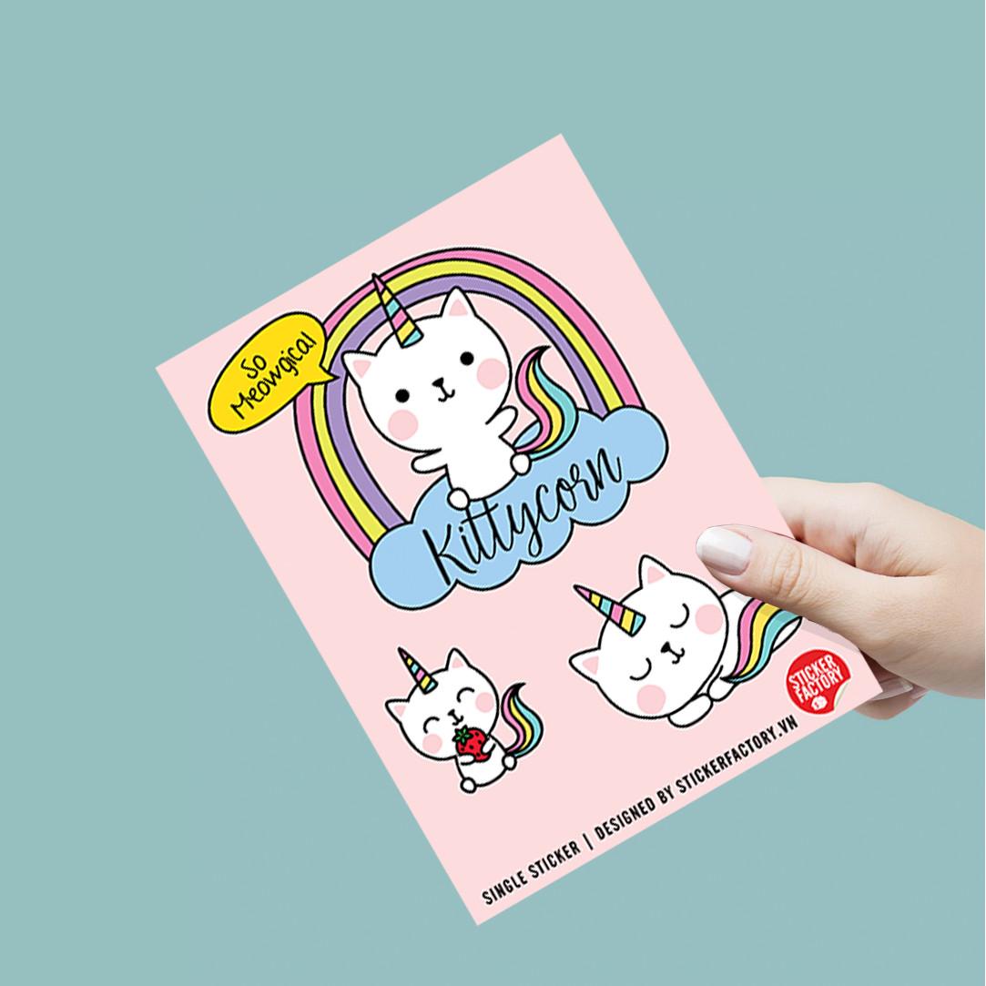 Kittycorn - Single Sticker hình dán lẻ