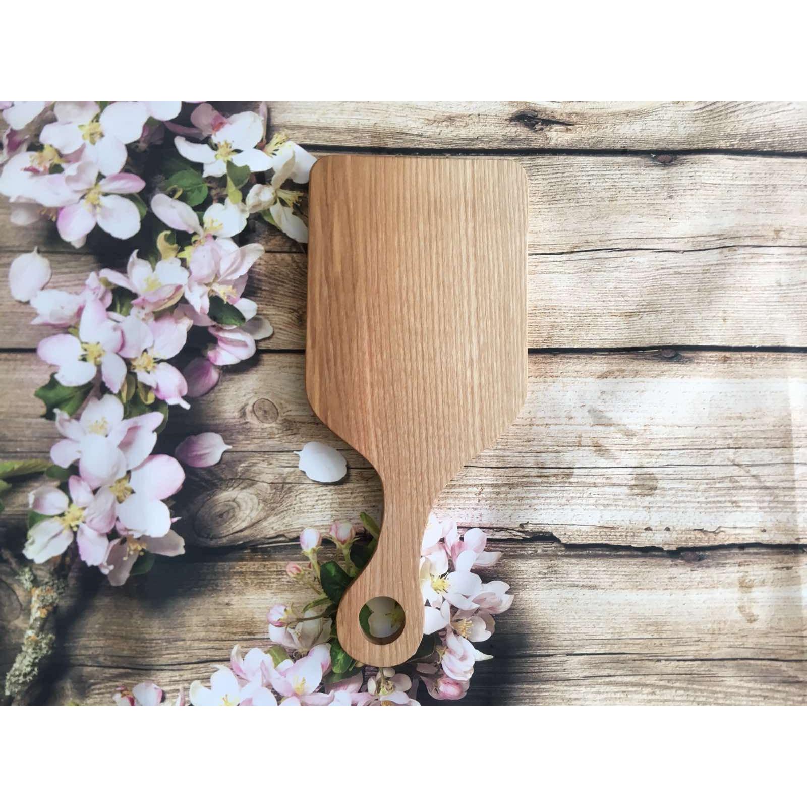 Thớt gỗ tần bì (gỗ ash) hình chữ nhật có tay cầm