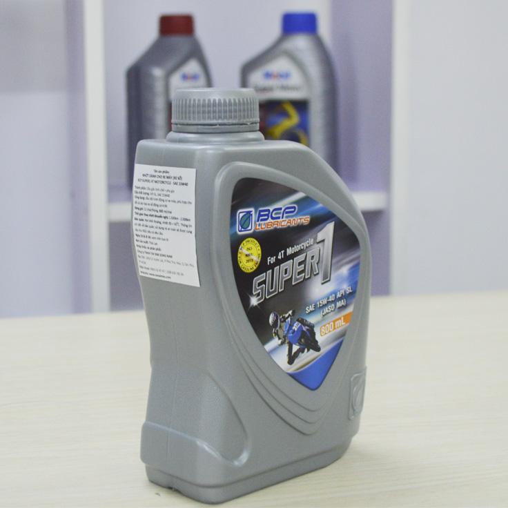 Combo Chai Nhớt Xe Máy Số BCP 15W40, API SL (0.8L) + Phụ Gia Làm Sạch Bình Xăng Và Hệ Thống Dẫn Nhiên Liệu Xe Máy BCP S Ultra (60ml)