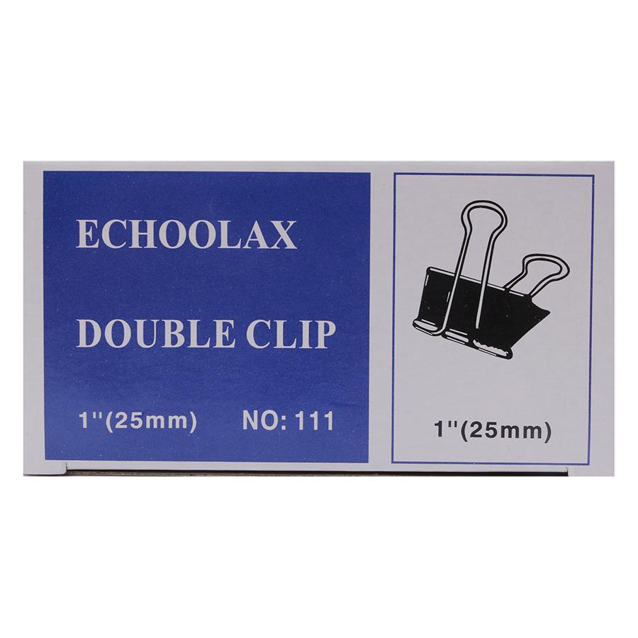 Bộ 3 Hộp Kẹp Bướm Echo (25mm) - Đen