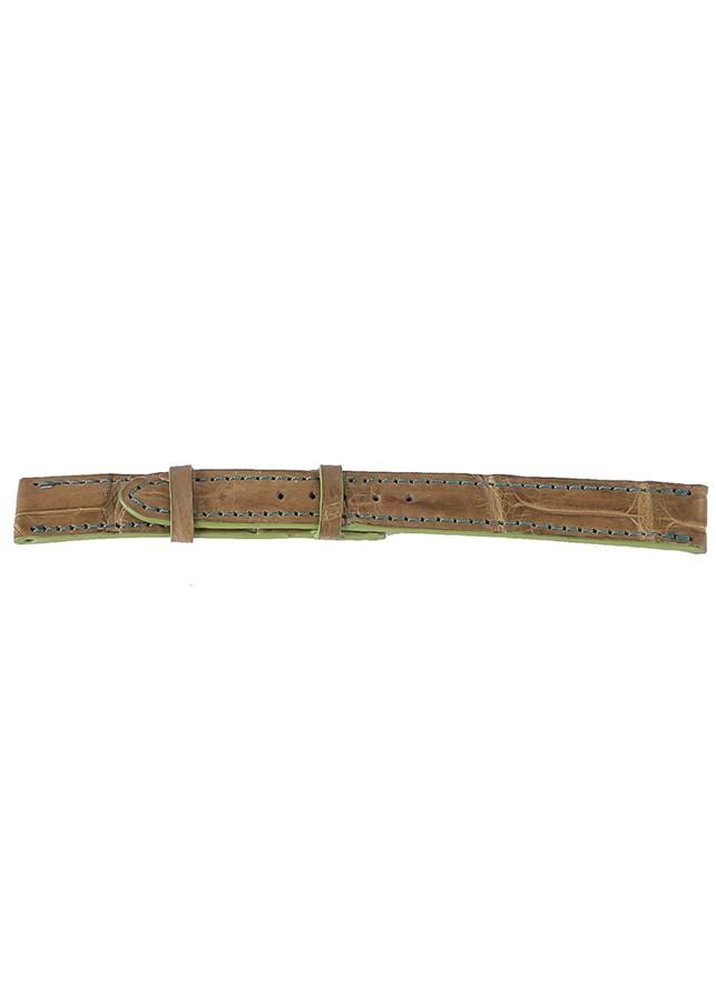 Dây Đồng Hồ Da Cá Sấu Size Nhỏ Huy Hoàng HT8267 - Rêu Nhạt