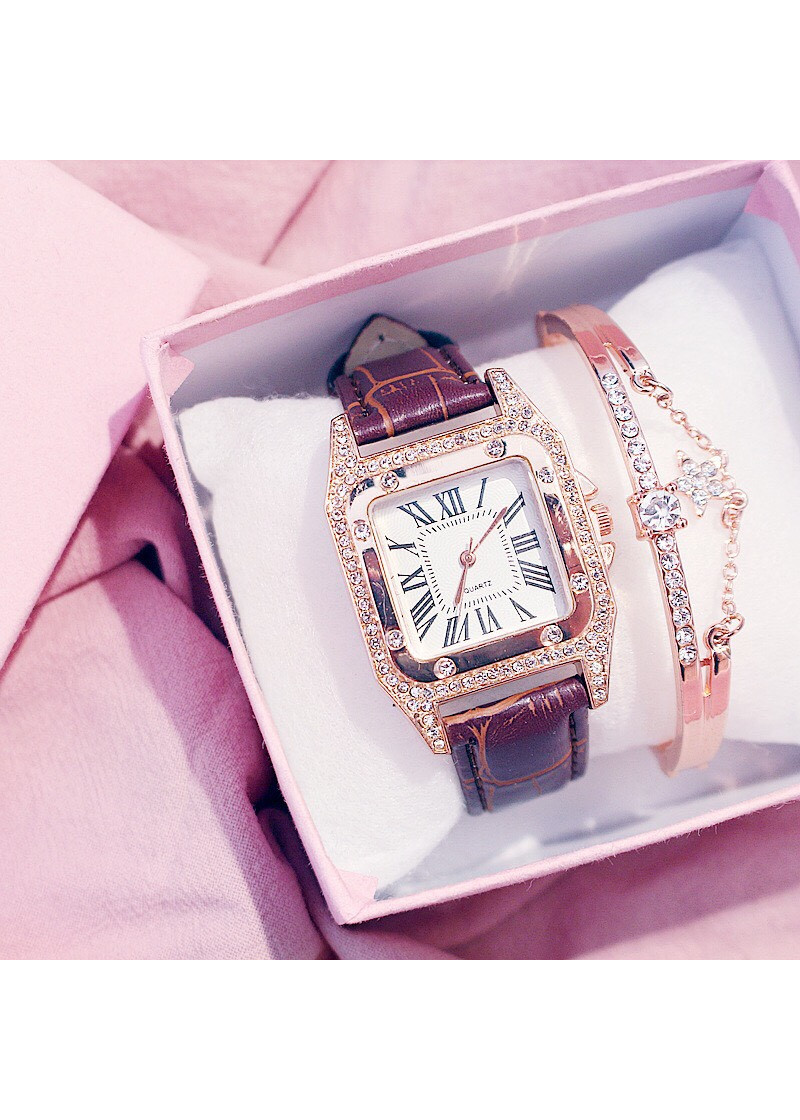 Đồng hồ dây da thời trang Vokali đẹp DH46