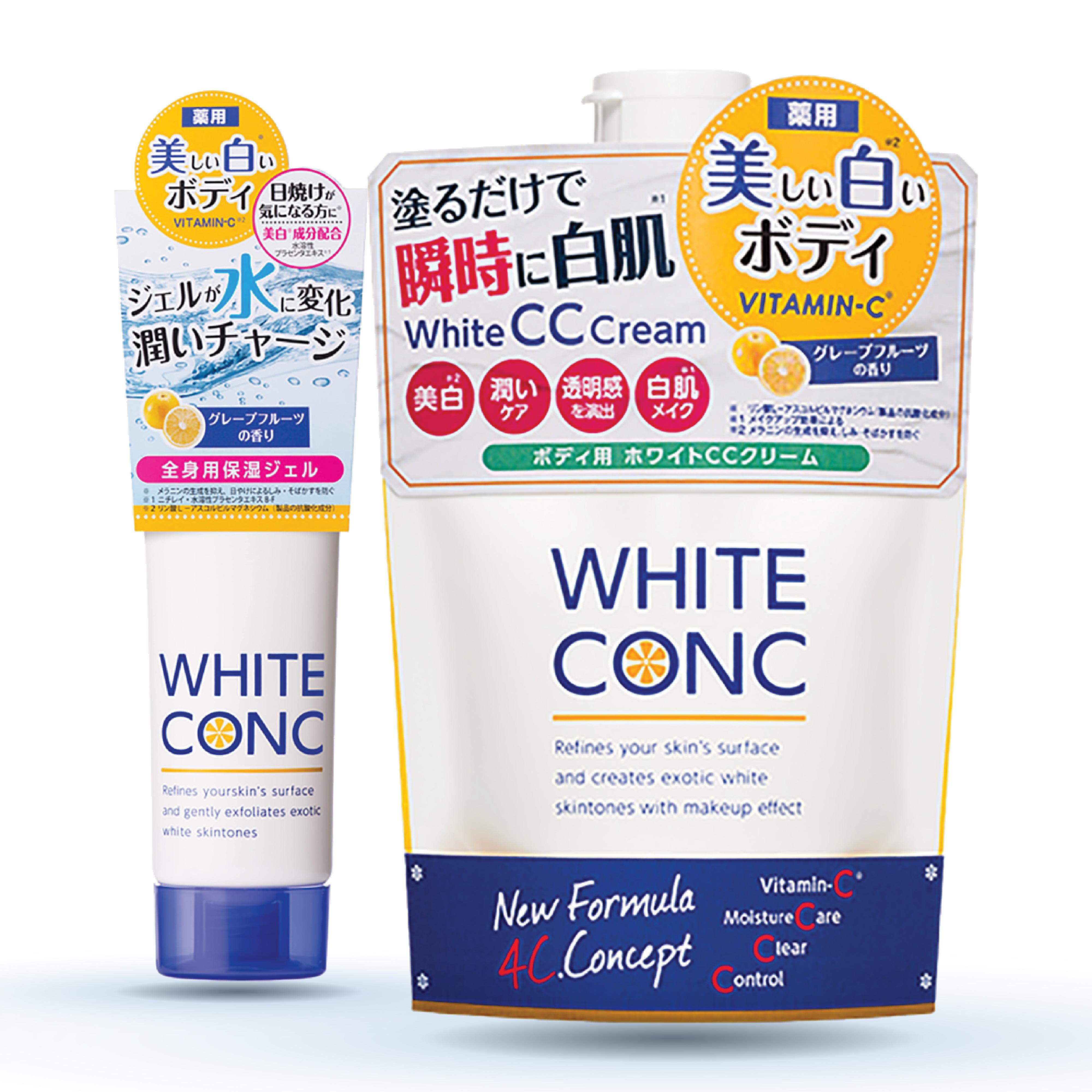 Combo dưỡng trắng da White ConC (Kem dưỡng ẩm làm trắng da Watery Cream 90g +Kem dưỡng trắng da toàn thân ban ngày 200g)