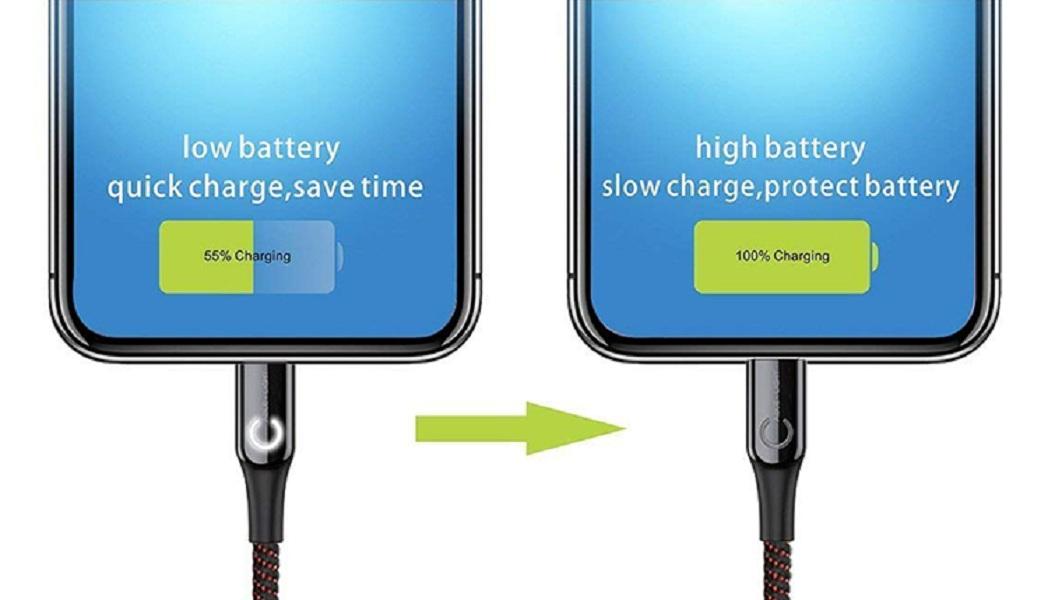 Cáp iPhone lighting tự ngắt thông minh Baseus C-shaped Light - Hàng chính hãng