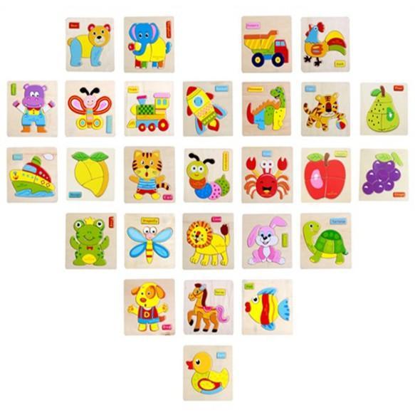 Combo 5 bộ tranh ghép nổi chọn ngẫu nhiên các hình khác nhau