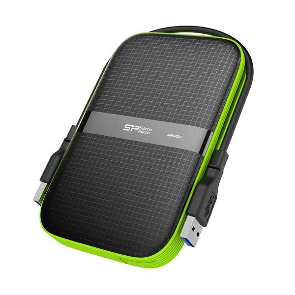 Ổ Cứng Di Động Silicon Power Armor A60 1TB - USB 3.0 Hàng chính hãng + Tặng Đèn Led