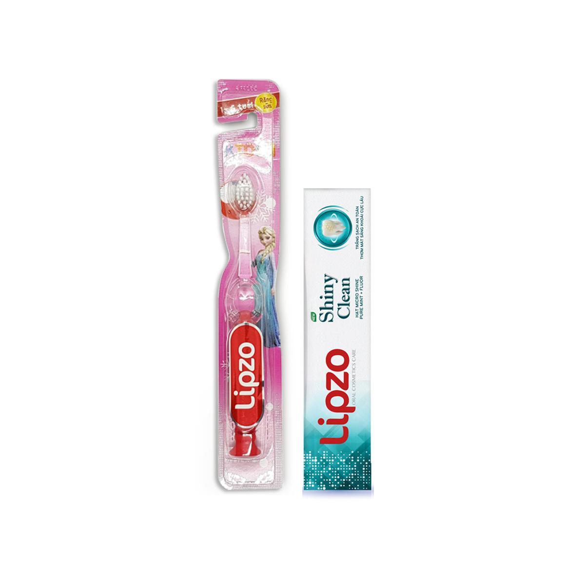 Bàn chải Lipzo Kids S1 Tặng 01 Kem đánh răng Lipzo Shiny Clean 19g