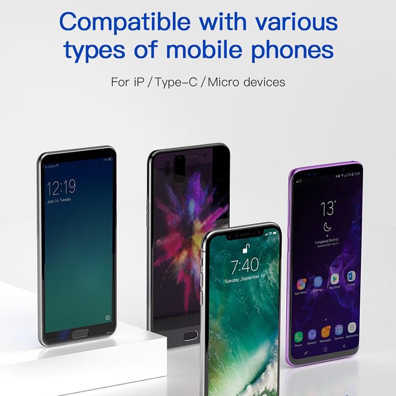 Dây cáp sạc đa năng Baseus Rapid 4 in 1 Lighning, 2 Type-C,  Micro USB, cho iPhone/ iPad, Smartphone & Tablet Android (3.5A, 1.2M, Fast charge 4 in 1 Cable) - Hàng chính hãng
