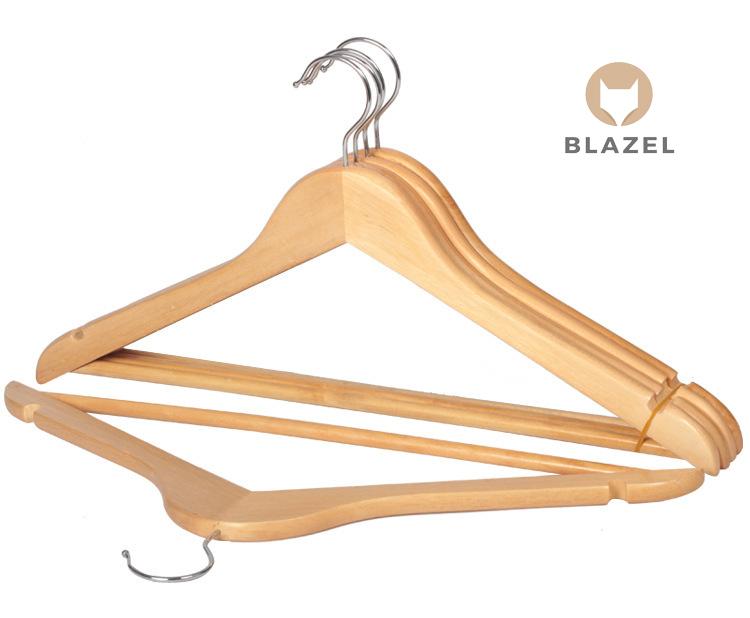 Bộ 10 móc gỗ treo quần áo có thanh ngang - Gỗ thông cao cấp Blazel | An Vũ  Techcom | Tiki