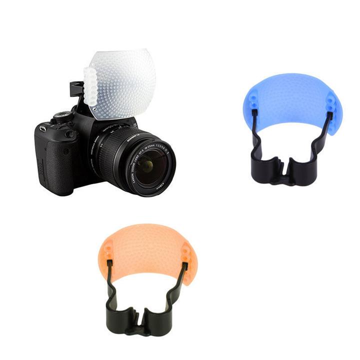 Pop up Flash diffuser Tản sáng Flash cóc kit 3 màu cho đèn cóc