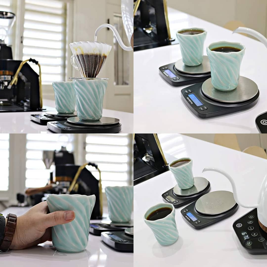 Ly cà phê Brewista Artisan 228ml Coffee Cup - Jade Green ( bộ 2 chiếc )