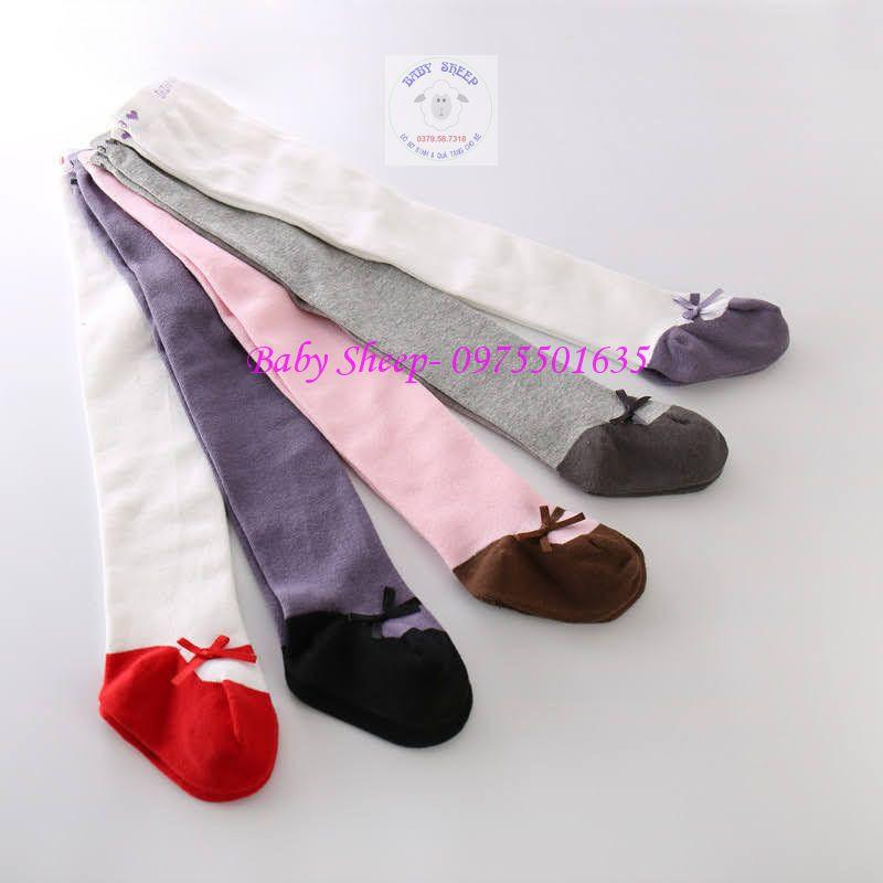 Quần tất tiểu thư giả giày nơ dành cho bé gái 0-2 tuổi