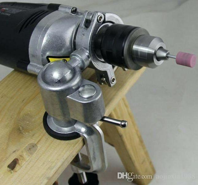 Giá đỡ máy khoan tay kẹp bàn xoay 360 độ