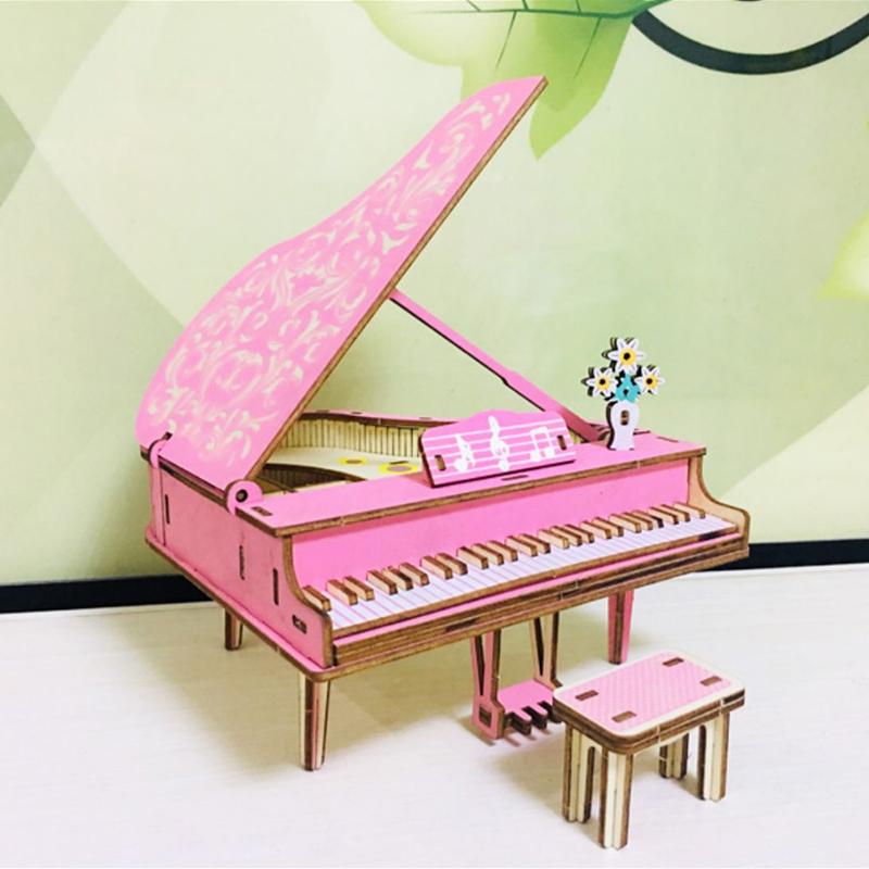 Đồ chơi lắp ráp gỗ 3D Mô hình Đàn Piano Laser HG-D065