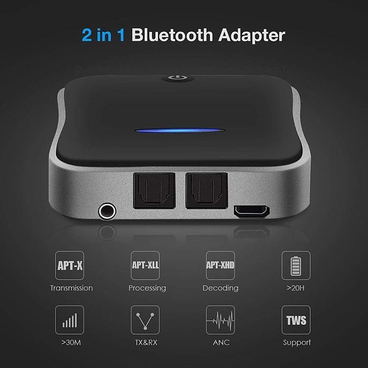 01 Máy Thu Phát Bluetooth Audio Cho Tivi, Máy Tính, Âm Ly, Dàn Âm Thanh 5.0 BT-B19 Optical - BT-B19 Optical