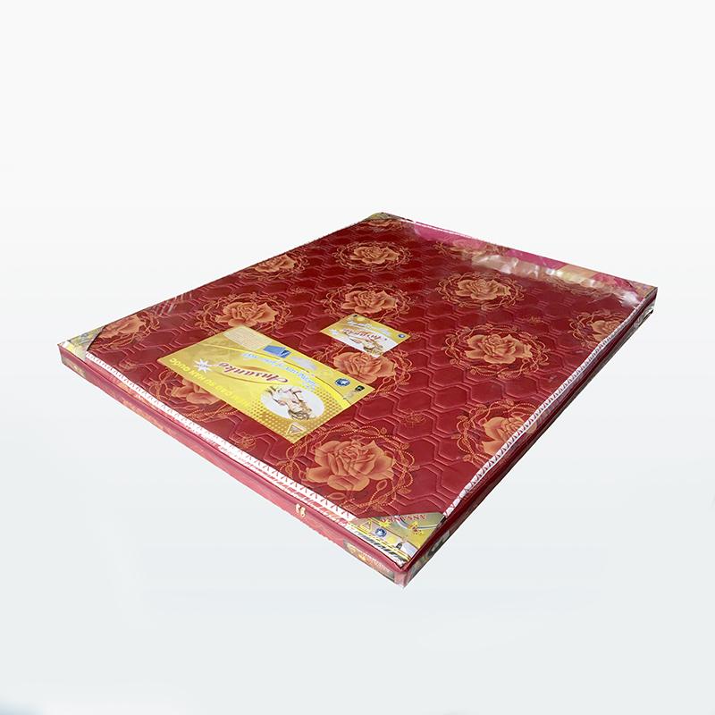 Nệm cao su Ansanko 1m8 gấp 3- Vải gấm Damask cao cấp có chần - Hoa văn màu sắc ngẫu nhiên.