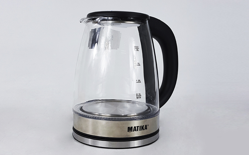 Ấm Siêu Tốc Thủy Tinh 1.8L Matika MTK-35 Công Suất 1800W Thiết Kế Hiện Đại Trong Suốt Đun Nước Siêu Nhanh Có Đèn Led Khi Sôi-Hàng Chính Hãng