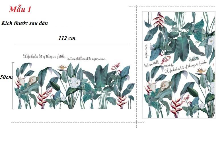 decal dán tường-Rừng nhiệt đới-V1.2