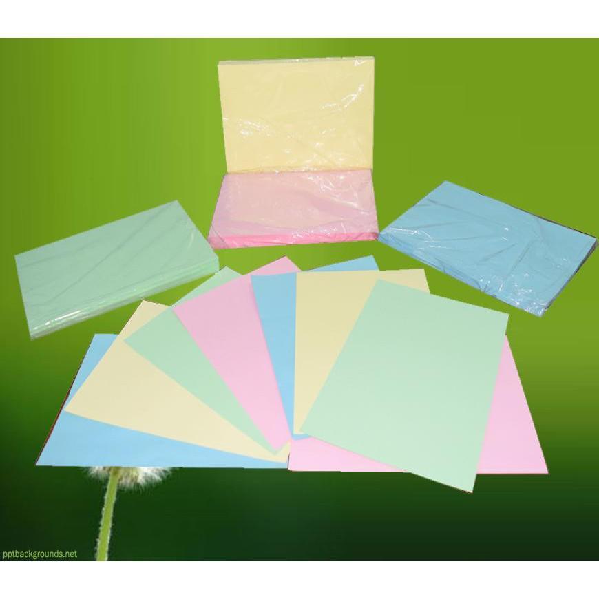 Bộ 50 tờ Giấy bìa cứng đủ màu– khổ a3