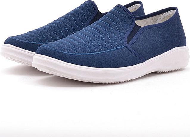 Giày Sneaker Thể Thao Đế Êm Chất Vải Jeans TN85 - Xanh navy