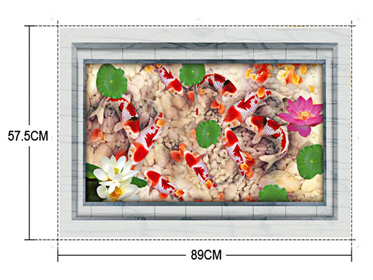 Decal dán tường phong cảnh hồ cá hồng mj9031aoem