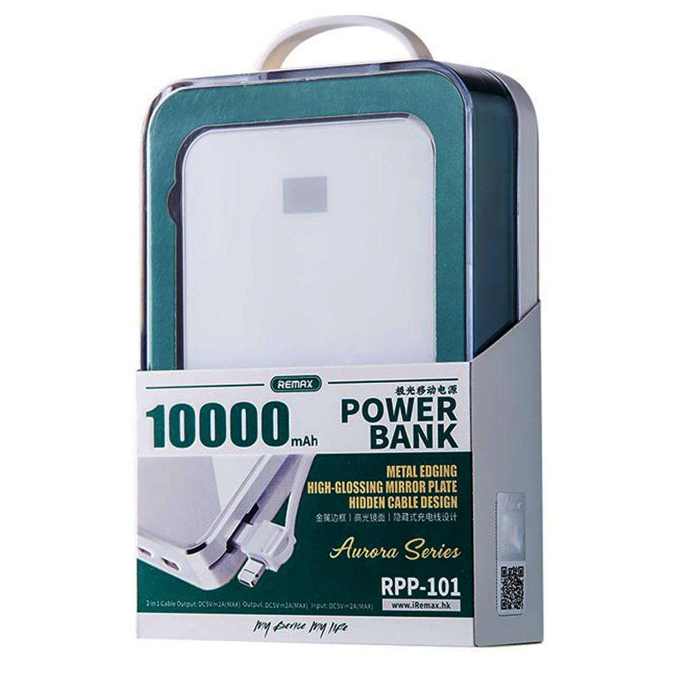 Pin sạc dự phòng Remax RPP-101 10000mAh Trắng - Hàng chính hãng