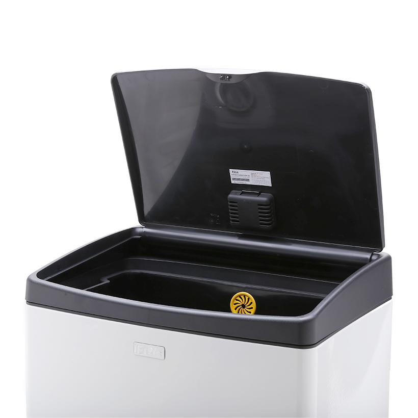 Thùng rác Fitis inox Mega đạp 40 lít - SPL2-904 - trắng