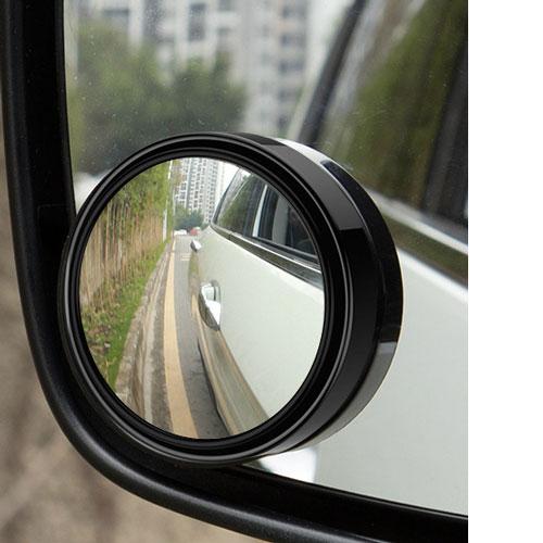 Gương Tròn Nhỏ 55mm Kính HD Dùng Cho Xe Ô Tô Có Thể Điều Chỉnh 360 Độ Viền Đen