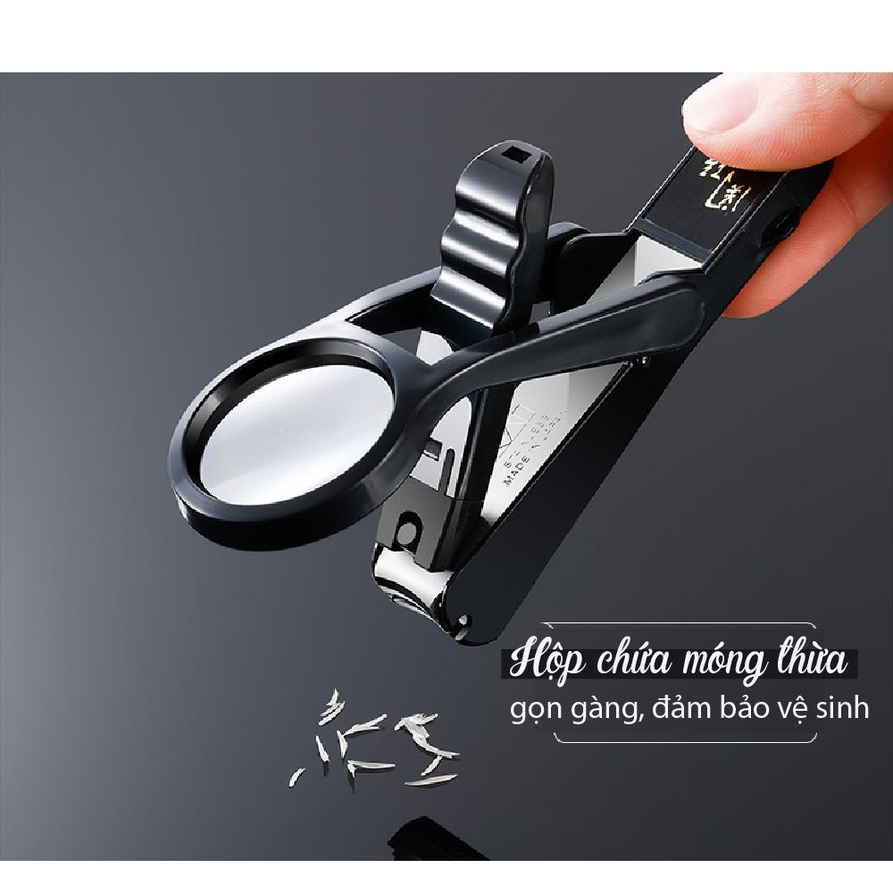 Bấm móng tay cao cấp Nhật KAI Seki Magoroku (kèm kính lúp) HC1823