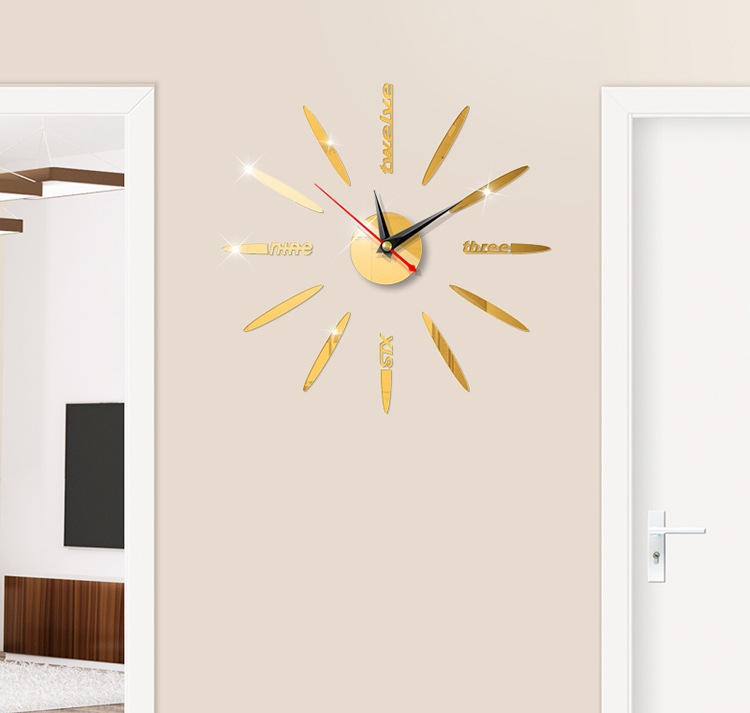 Đồng hồ treo tường 3D tự lắp ráp phong cách Châu Âu hiện đại DH83