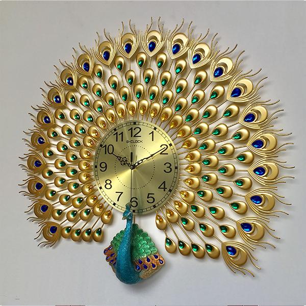 Đồng hồ treo tường MONSKY GCLOCK loại to KT 65x75 (cm) cao cấp làm từ kim loại sơn tĩnh điện chạy máy kim trôi chuẩn (1813-D12)