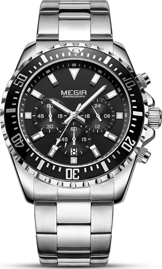 Đồng hồ nam MEGIR hàng cao cấp, thiết kế phong cách doanh nhân, full box