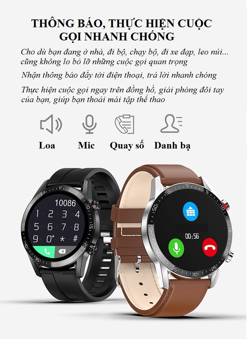 Đồng Hồ Thông Minh Nghe Gọi, Chống Nước Cao Cấp, Theo Dõi Sức Khỏe, Kết Nối Bluetooth OSM1514 - Hàng Nhập Khẩu