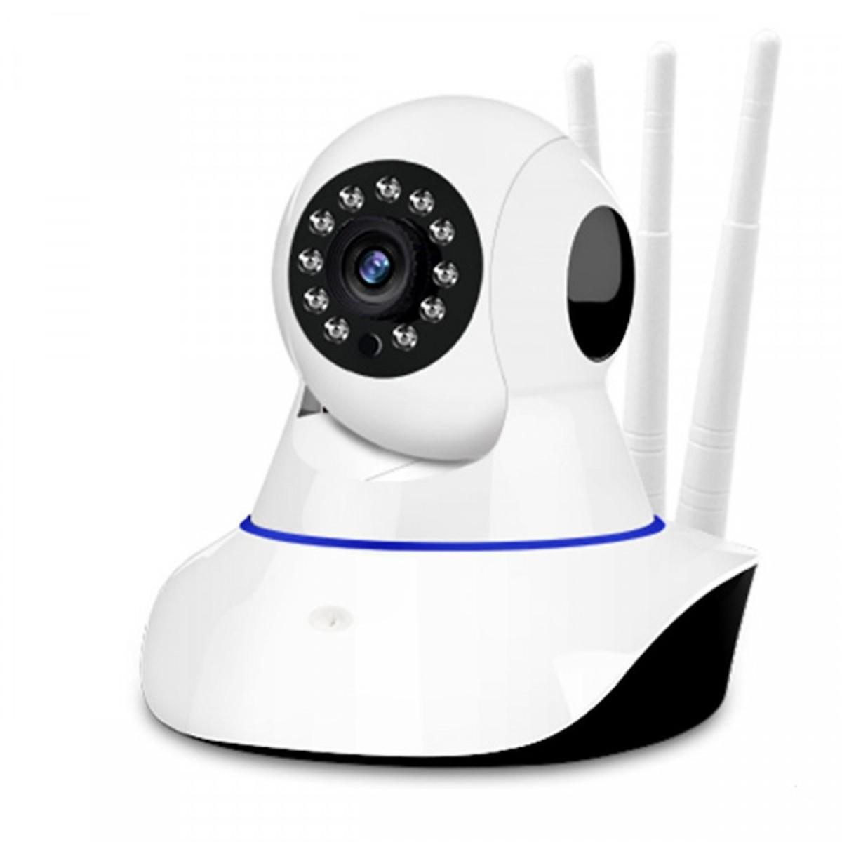 Combo Camera Yoosee 3 Râu 2.0MP độ phân giải FullHD 1080P, Xoay 360 độ, đàm thoại 2 chiều và thẻ nhớ Kingston 32Gb - Hàng Nhập Khẩu