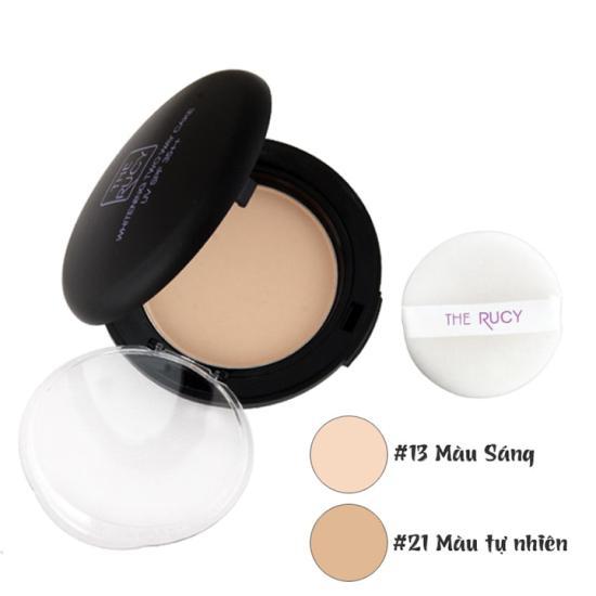 Phấn Phủ Trang Điểm Chống Nắng Cao Cấp The Rucy 3 In 1 Whitening Two Way Cake UV SPF 35++ (13g) Tặng Gương mini xinh xắn