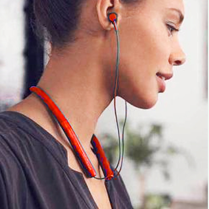 Tai nghe nhét tai đẹp cao cấp  thời trang bluetooth MS750 Đỏ  M153