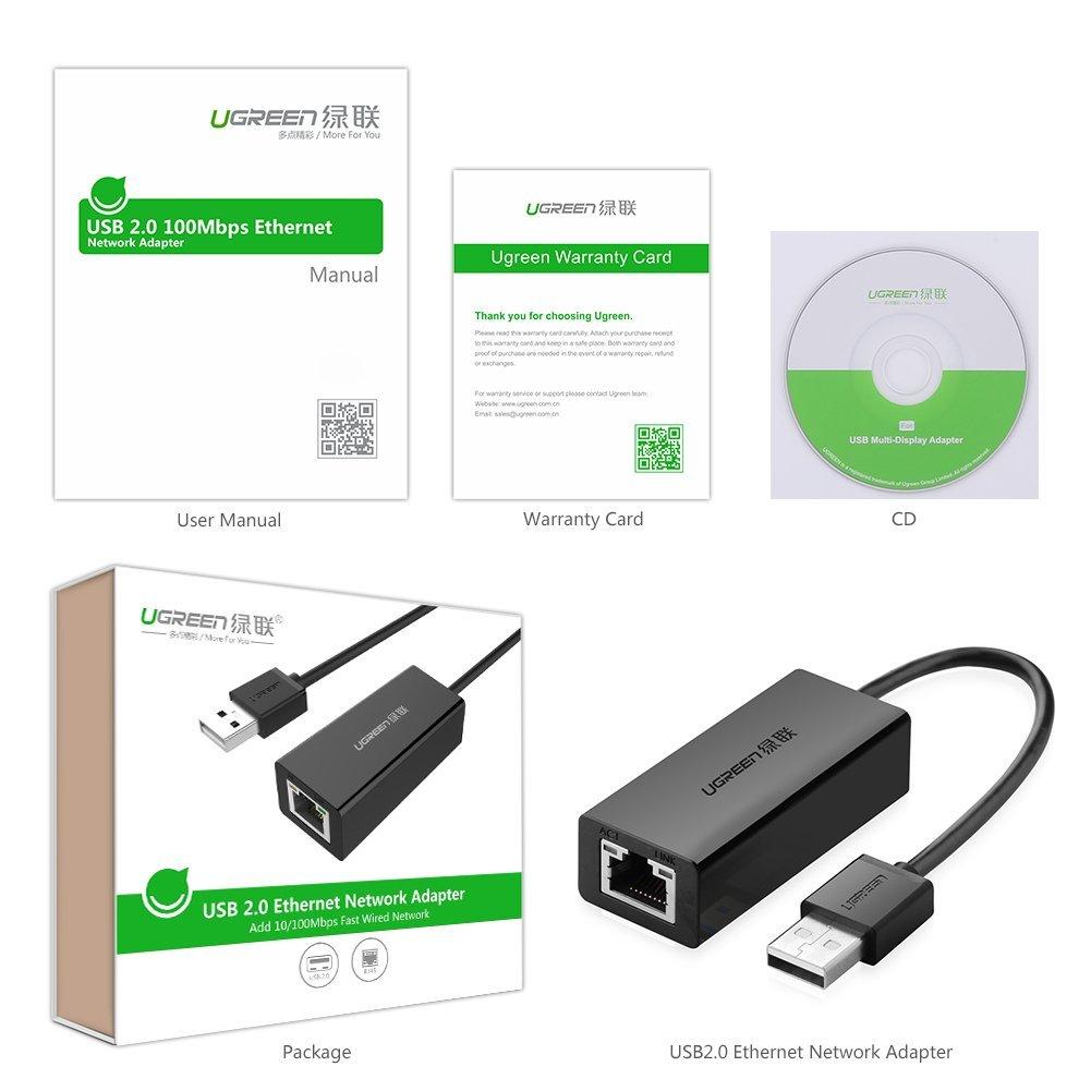 Bộ chuyển đổi USB 2.0 sang LAN 10/100 Mbps CR110 20254 - Hàng Chính Hãng