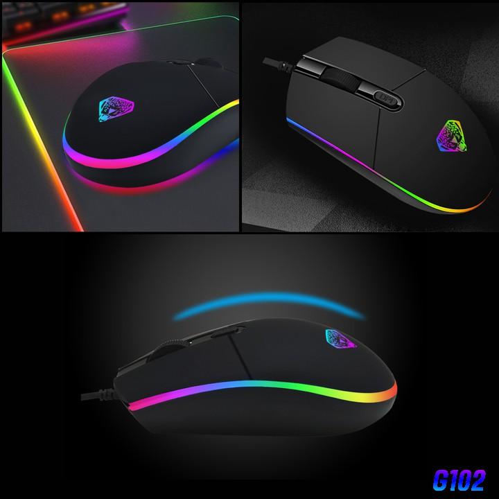 Chuột game thủ Divipard G102 Led RGB DPI 2400 - Hàng nhập khẩu