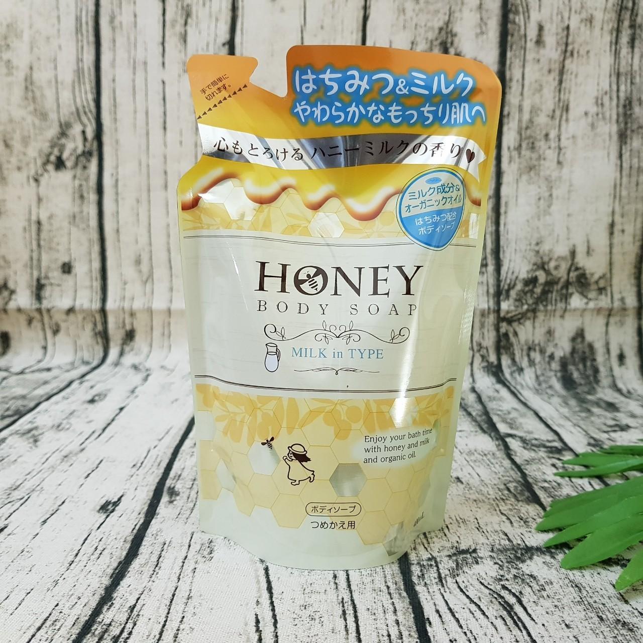 Combo 2 Túi Sữa Tắm Dưỡng Trắng Da Tinh Chất Sữa Mật Ong Nhật Bản HONEY MILK 400ML