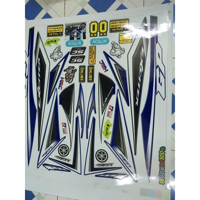 Tem dành cho xe exciter 2009 gp tặng tem dán xi nhan (bộ)